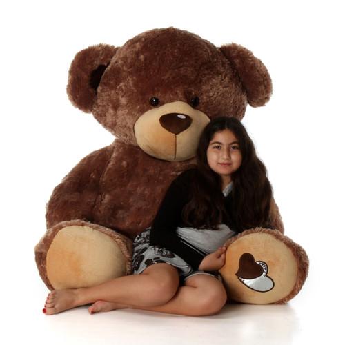 Life Size Mocha Teddy Bear Baby Cakes Big Love 60in