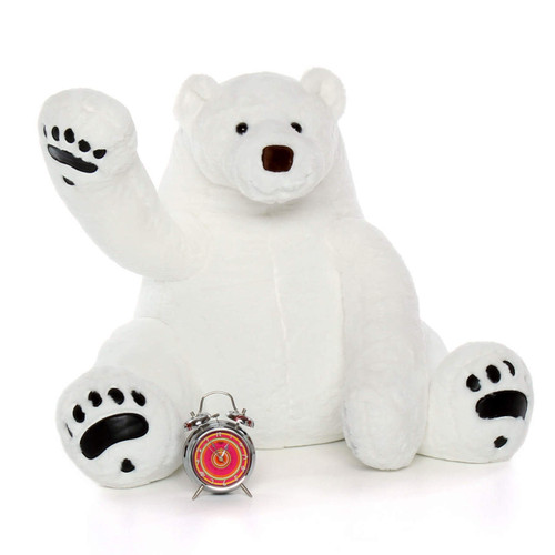 Big White soft cuddly Polar Bear 35 Inches Tall