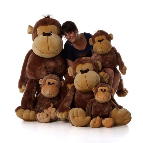 Big Stuffed Monkey family Giant Teddy brand