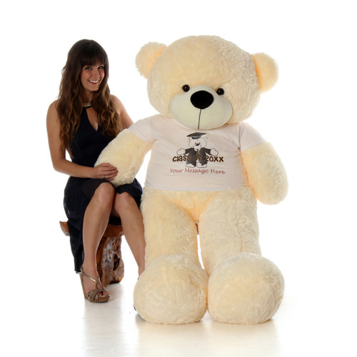 Graduation Gift 60in Vanilla teddy bear Class of 2017