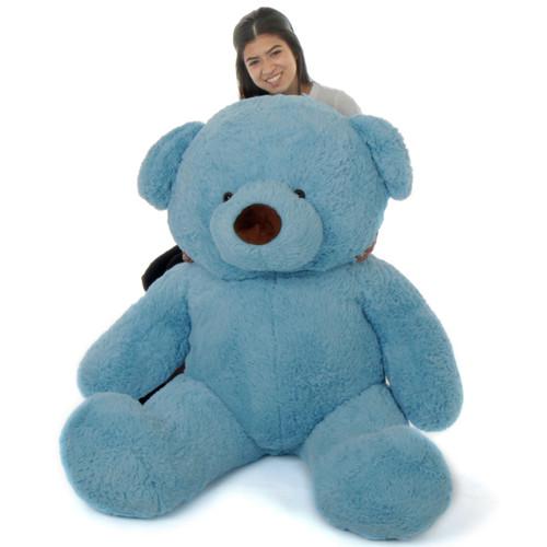 Beautiful 5ft sky blue teddy bear Sammy Chubs softest