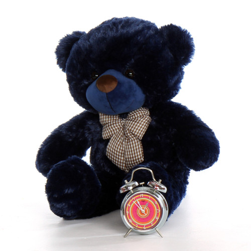2.5ft Giant Teddy Bear Navy Blue Royce Cuddles