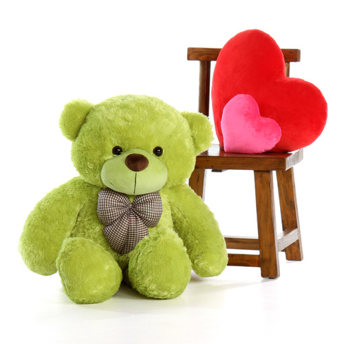 4ft Giant Teddy Bear Lime Green Ace Cuddles