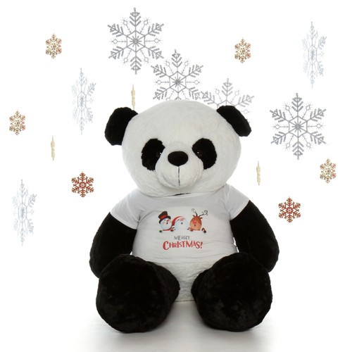 5 foot Christmas Panda Teddy bear