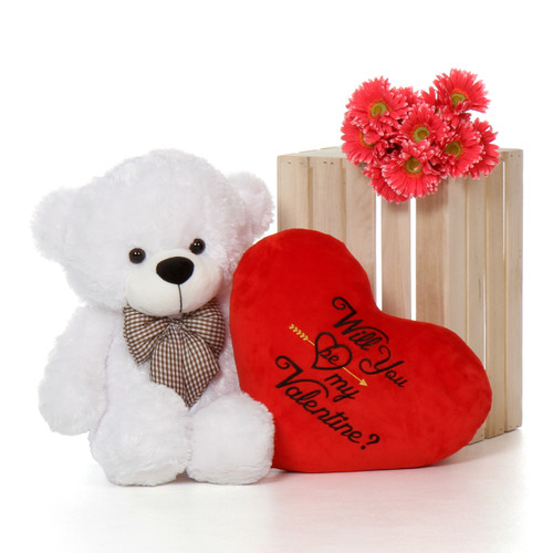 30in Coco Cuddles Will You Be My Valentine Heart