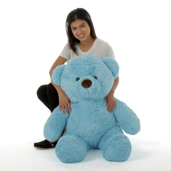 Big Blue Teddy Bear Sammy Chubs 38in
