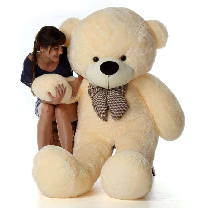 962d910ba78 Cozy Cuddles 72 inch Cream Life Size Huge Teddy Bear - Giant Teddy Bears
