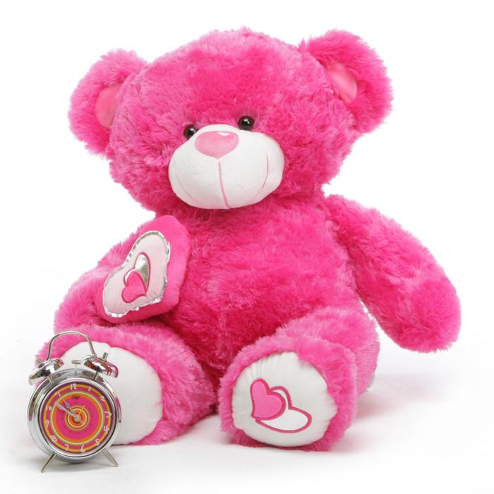 ChaCha Big Love Irresistible Hot Pink Teddy Bear 30 in