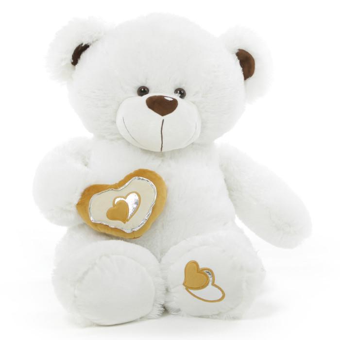 Chomps Big Love Huggable White Teddy Bear 36 in