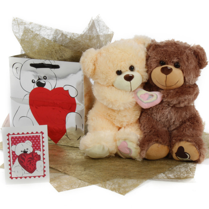 Be Mine Big Love Bear Hug Care Package 18in