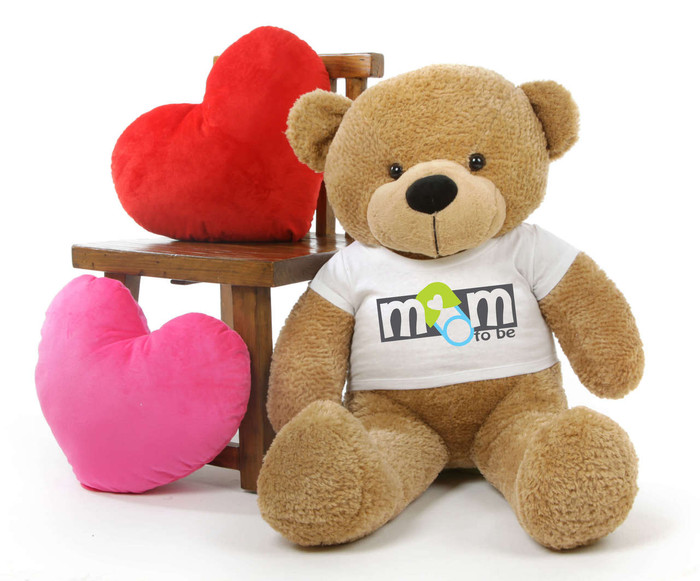 Shaggy M Cuddles Amber Mothers Day Teddy Bear Gift 38in