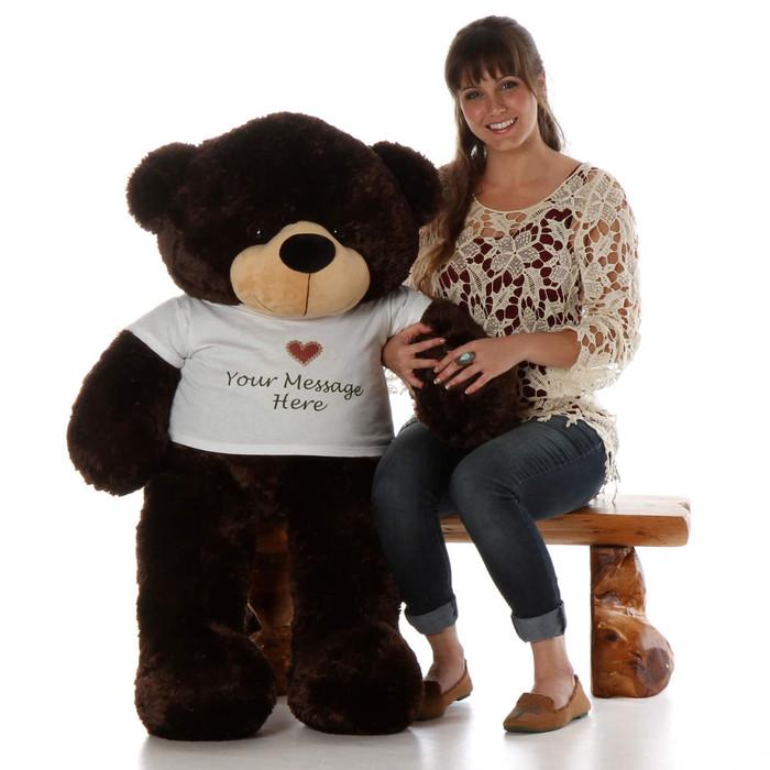 Big Teddy Bear Hugs from Brownie Cuddles, A 48 inch Personalized Giant Teddy Bear!