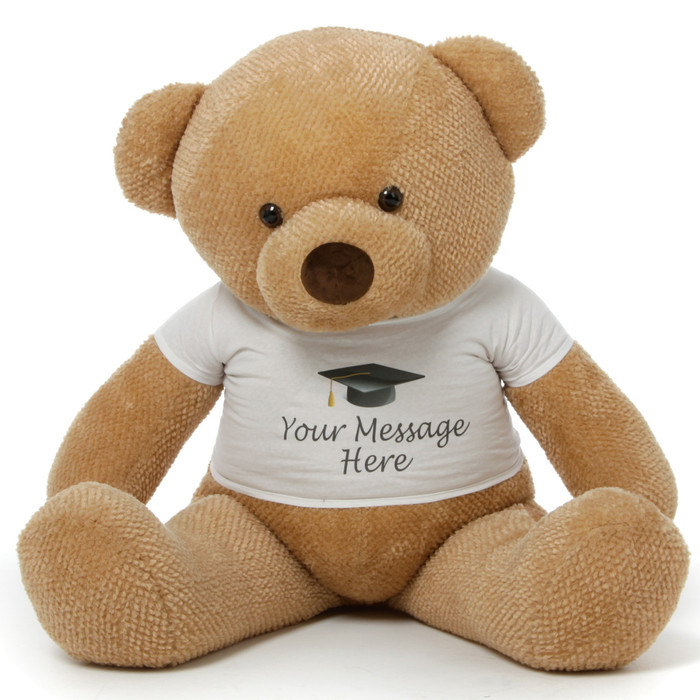 48in Personalized Chubs Amber Graduation Bear