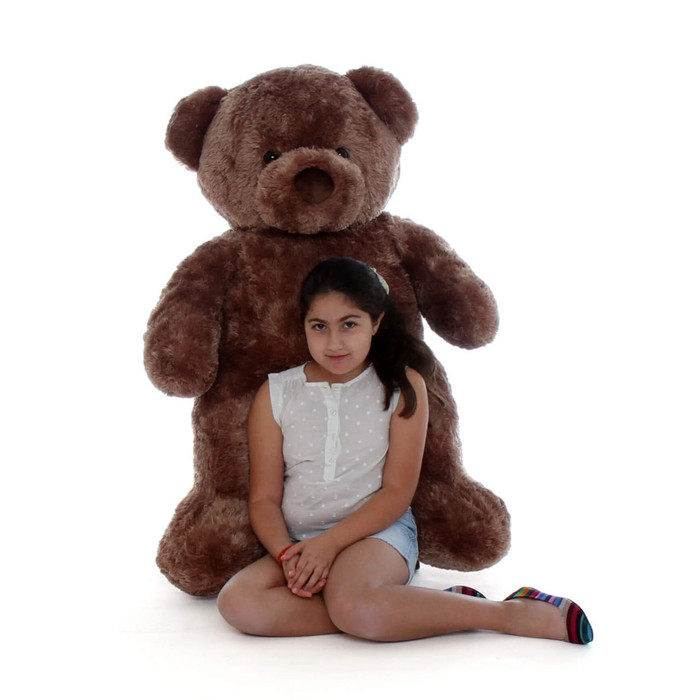Softest Teddy Bear Chubs is a huge 4ft with mocha brown fur