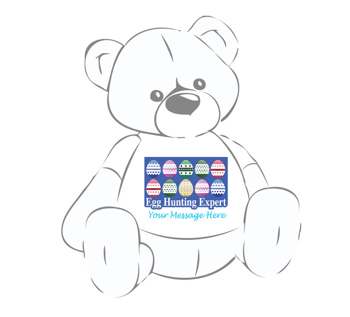 "Personalized ""Egg Hunting Expert"" Easter shirt for Giant Teddy bears"