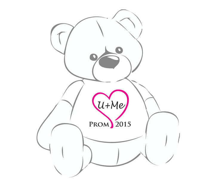 U+Me Pink Heart Prom 2015 Giant Teddy Bear shirt