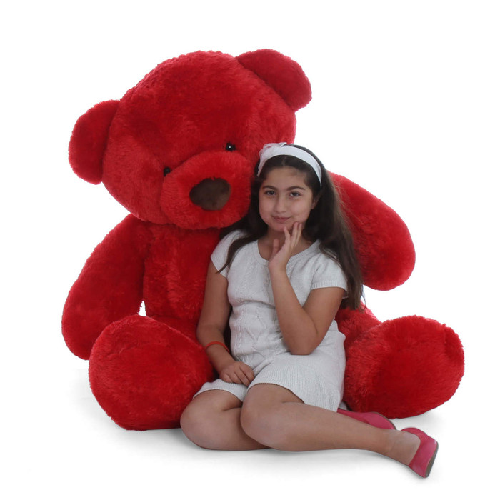Huge huggable and soft Life Size 5ft Red Giant Teddy bear Riley Chubs