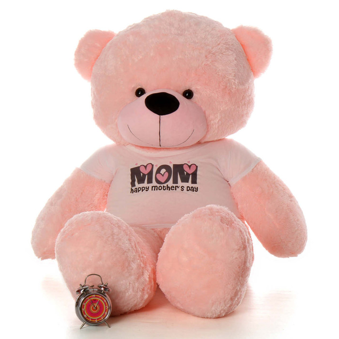 Life Size 6ft pink Happy Mother's Day teddy bear Lady Cuddles