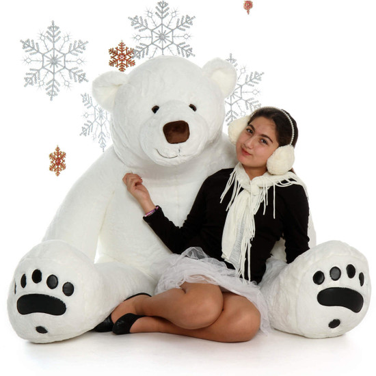 Life Size 6ft Polar Bear Chilly Klondike Soft Huggable Giant Teddy Brand