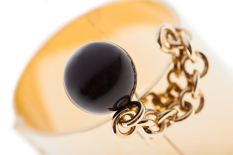 may mOma Gea Sphere Black Gold Bracelet 9151/F_P021