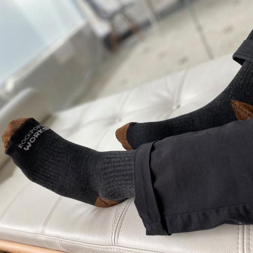 Rockport Works Charcoal Sock