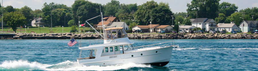 Marine, boat, ship, vessesl antennas for cell phone signal booster systems from Powerful Signal