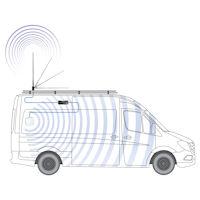 RV Cel-Fi GO Cell Signal Booster for Class B & Class C with 38-Inch High-Gain Whip Antenna Bull Bar Mount Setup Diagram