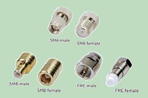 SMA-male SMA-female SMB-male SMB-female FME-male FME-female connectors