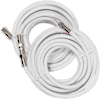 Wilson Electronics RG6 white coax cables 15 ft. (2) 950615 icon