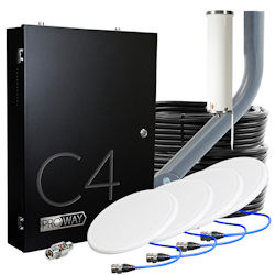 The ProWay Cel-Fi C4 four-carrier cell signal booster 4 antennas TS559404