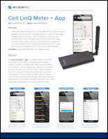 Download the Cell LinQ Pro signal meter spec sheet (PDF)