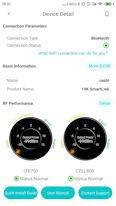 HiBoost Signal Supervisor smartphone app Dashboard