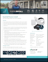 Download the SureCall Fusion Install data sheet (PDF)