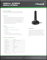 Download the SureCall mag-mount antenna SC-208W data sheet (PDF)