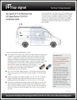 RV Cel-Fi GO Cell Signal Booster for Class B Adventure Vans TS559129 installation guide (PDF)
