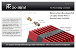 Download the Marine weBoost Drive Reach Cell Signal Booster 470154 Antenna connection Guide (PDF)