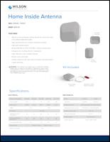 Download the Wilson Electronics indoor panel antenna 314440/314441 spec sheet (PDF)