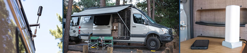 Top Signal Cel-Fi GO Adventure Van RV Cell Signal Booster TS559129 Lifestyle Images