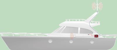 Marine weBoost Drive Reach high-gain antenna kit setup diagram