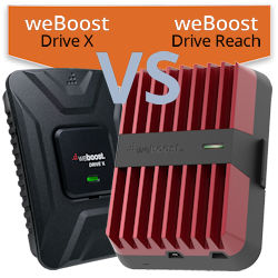 What are the differences between the weBoost Drive X and weBoost Drive Reach?