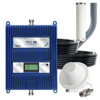 WilsonPro 70 Cell Phone Signal Booster System with 1 Dome Antenna 465134 (50 Ohm): Kit