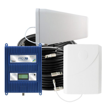 WilsonPro 70 Cell Phone Signal Booster System with 1 Panel Antenna 463134 (75 Ohm): Kit