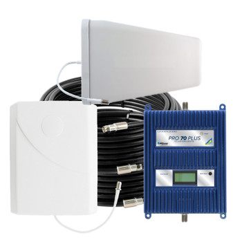 WilsonPro 70 Plus Cell Phone Signal Booster System with 1 Panel Antenna (75 Ohm) | 460127