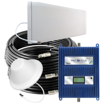 WilsonPro 70 PLUS Cell Phone Signal Booster System with 1 Dome Antenna 460227 (75 Ohm): Kit