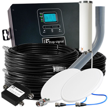 Top Signal 2X HiBoost 30K Pro Cell Phone Signal Booster with 2 Antennas TS546021 (50 Ohm): Kit