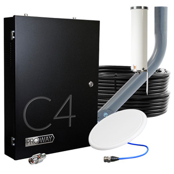 Cel-Fi GO 4-Carrier Verizon AT&T T‑Mobile US Cellular 100 dB Cell Signal Booster System