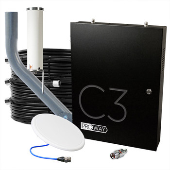ProWay Cel-Fi C3 Three-Carrier Cell Signal Booster System