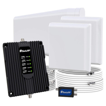SolidRF Signal Plus Home & Small Office Cell Signal Booster 2 Antennas (TS115721)