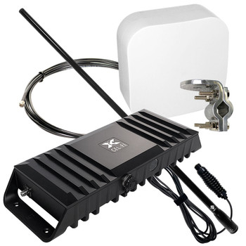 RV Cel-Fi GO Cell Signal Booster for Class B & Class C with 38-Inch High-Gain Whip Antenna | Top Signal Series | TS559139)