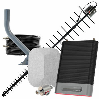 Rural weBoost Home Complete Cell Signal Booster with High-Gain Antenna   Top Signal Series   470145-HG